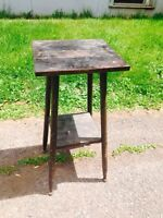 Antique Windsor Table with Fantastic Button Feet