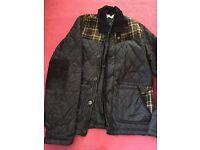 Navy men's coat size M Topman