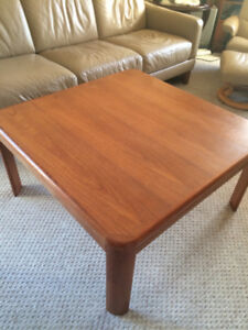 Teak coffee and  two end tables