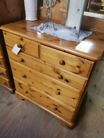 Pine chest of draws Ducal make