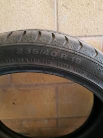 19 inch part worn tyre