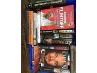 Assortment of sporting auto biographies