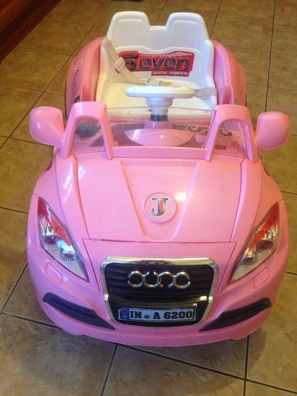 audi tt pink electric 6v kids hello kitty car