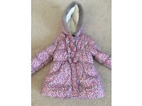 Girls winter coat age 5-6 excellent condition