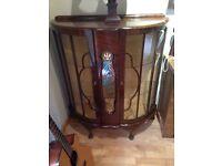 Dark wood china cabinet