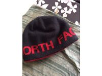 North face beanie hat reversible