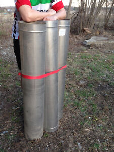 """Stainless Chimney Pipe, 4 pieces 8"""" diameter x 48"""" long (NEW)"""