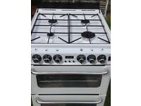 New WORLD gas cooker double oven With electric gril; 55 cm white