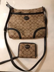 Coach Messenger crossbody purse and Wallet Set
