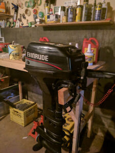 9.9 EVINRUDE 2-STROKE, LONG SHAFT- LOW HOURS