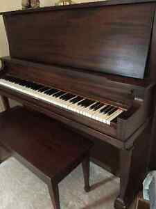 Upright grand piano with bench Peterborough Peterborough Area image 2