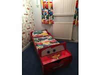 Cars toddler duvet cover and curtains only