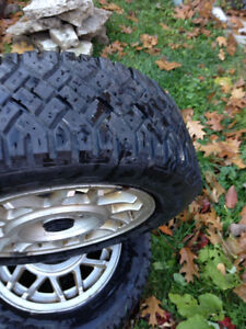 2 Goodyear UltraGrip Winter Tires on Alloy Mags