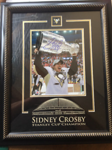 Sidney Crosby Signed Stanley Cup Picture