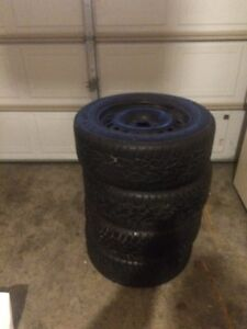 Winter Tires on Steel Rims 205/60 R-16