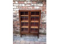Old Antique Wooden Display Cabinet/Bookcase - VGC - CAN DELIVER