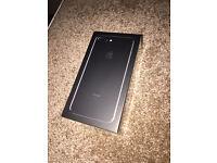 Brand New Sealed iPhone 7 plus 128GB Jet Black Sim Free Unlocked with Apple Receipt