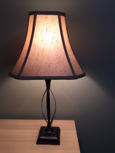 Great Condition 2 Black with Tan Shade table lamps