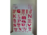 💗IKEA SPRUTT pink stick on letters and items 4 large sheets