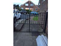 Black iron gates