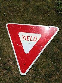 Original American yield sign