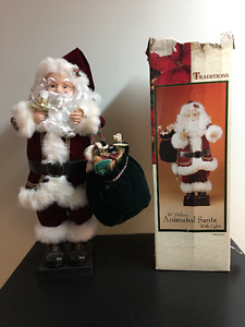 """Light up Santa Claus 30"""" with moving arms"""