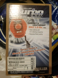 Brand New Miller Turbo Lite Personal Fall Limiter