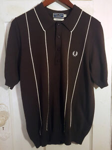 Women's Fred Perry Sportswear Brown Polo Shirt Size 40 Fits US 6