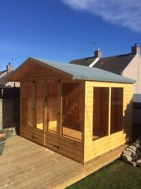 10 x 8 Summer House with 1ft overhang