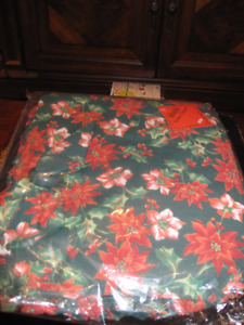 NEW Christmas Seat Cushions,Matching Placemats,Napkins,and Rings