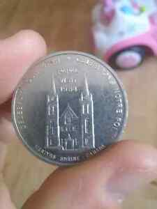Silver Papal Visit 1984 Coin Cambridge Kitchener Area image 2