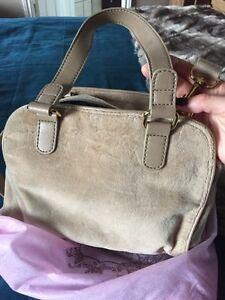 Judy couture velour handbag purse light brown  Belleville Belleville Area image 4