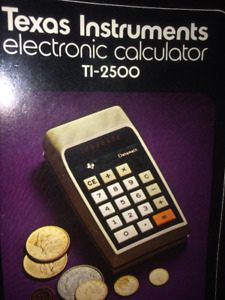 Calculator - 1973 vintage collectable Datamath TI 2500 complete