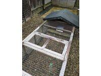 Handmade rabbit hutch/run