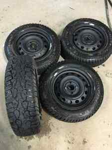 """Like New 14"""" rims and Winter Tires"""