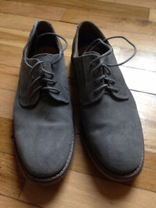 Chaussures grises cuir homme taille 7 (40)