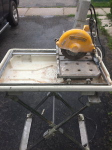 WET TILE SAW WITH TUB AND STAND