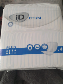 Free 2 packs x 42 unopened incontinence pads