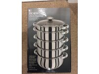 Horwood 5 tier Stainless Steel Steamer brand new
