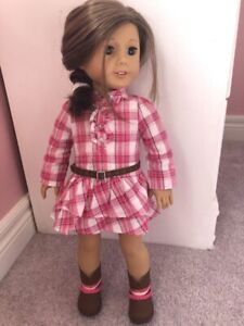 Western plaid outfit for 18 inch doll
