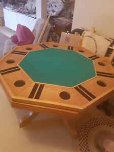 POKER/BUMPER POOL/OAK TABLE