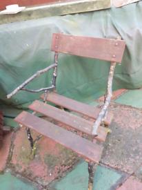 Victorian wooden garden chair.ORIGINAL