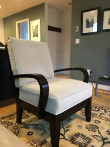 Two matching armchairs for sale