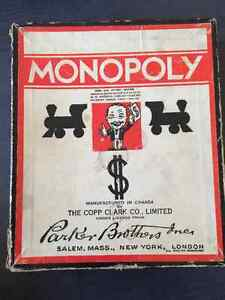1936 Antique & Rare Monopoly Game - 80 years old!-LOOK