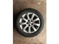 Excellent condition VW Polo alloy with excellent tyre