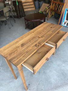 WOOD SOFA TABLE 2-DRAWERS