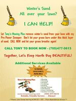 Get Winter's Sand Off Your Lawn - BOOK NOW!!! (Lawn Care)