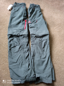 Children's decathlon zip off walking trousers shorts