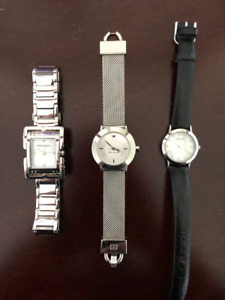 3 Ladies Watches - Mint Condition- Designer Brands - Great Deal!