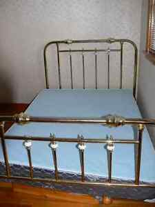 Brass Double headboard footboard and frame